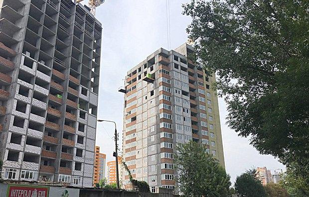 Строительство Интергалбуда ЖК Отрадный по ул. Акад. Каблукова в Киеве