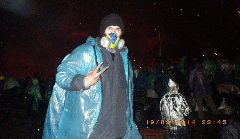 Тарас на Майдані 19 лютого