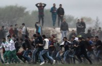 Тысячи палестинцев вышли на акции протеста против Трампа