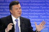 Янукович відкрив відроджене подвір'я монастиря