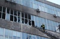 В Киеве горела обувная фабрика