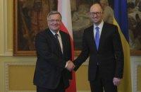 Коморовский: Украина вошла в фазу реализации реформ