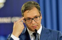 В Белграде автомобиль протаранил кортеж президента Сербии