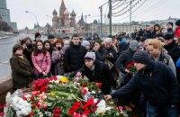"""У Росії минула акція """"Хвилина немовчання"""" на 40-й день після вбивства Нємцова"""