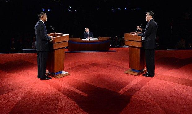 Первые телевизионные дебаты кандидатов в президенты США Барака Обамы и Митта Ромни