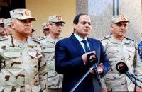 Президент Египта приказал армии обезопасить Синайский полуостров в течение трех месяцев