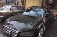 В Киеве сгорело Audi, на котором возили экс-министра Пивоварского
