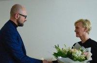Яценюк зустрівся з удовою Маккейна в Києві
