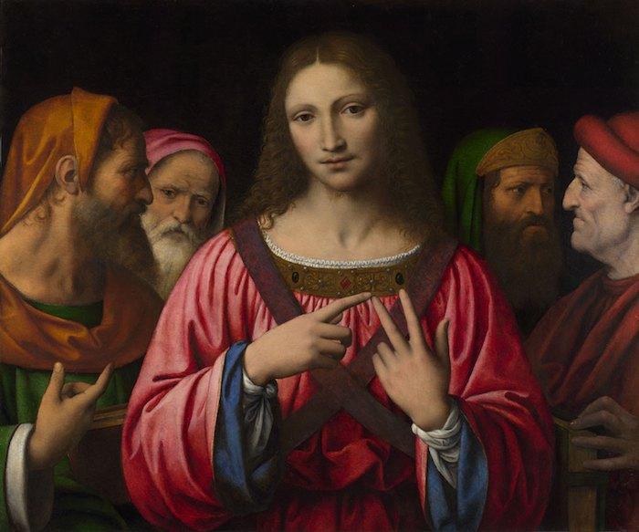 """Бернардино Луини, """"Христос среди врачей"""", приблизительно 1515-1530"""