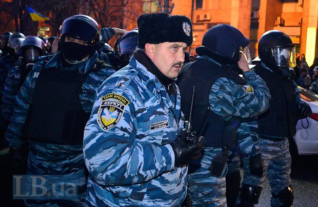 Сергей Кусюк на Майдане в ноябре 2013 г.