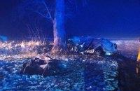 В Житомирской области легковушка влетела в дерево, три человека погибли