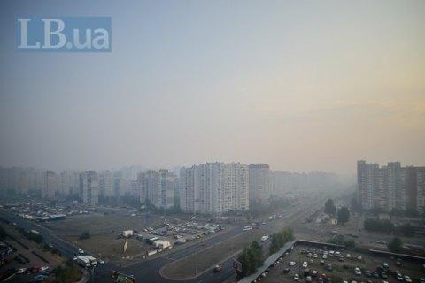 В Вышгородском и Бориспольском районах загрязнение воздуха превышает норму