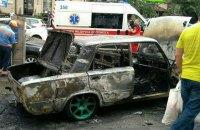 В центре Киева сгорел автомобиль ВАЗ