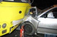 ДТП у Києві: п'яний водій протаранив маршрутку