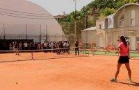 """Саакашвілі пограв у теніс у """"палаці Ківалова"""""""