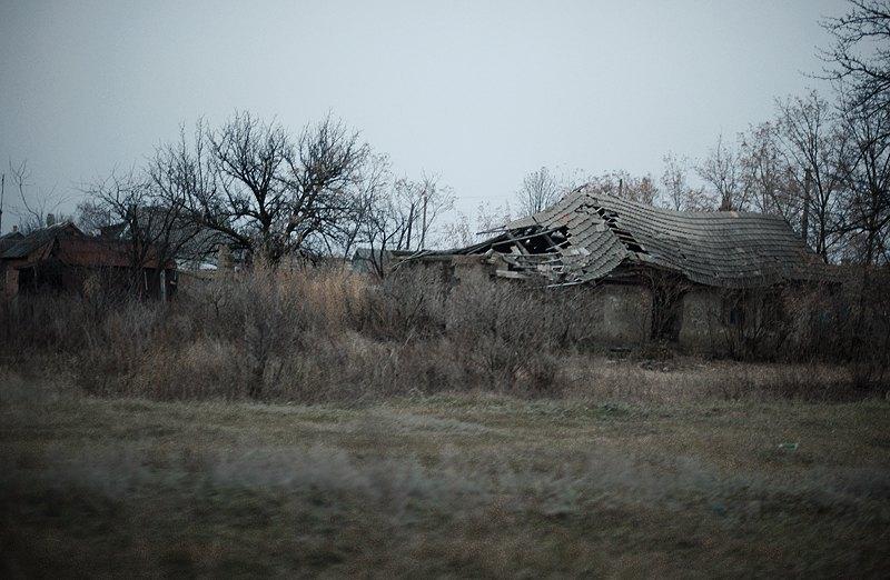 Зруйнований пыд час обстрілів будинок в Кодемі