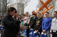 В Запорожье призывникам раздали подарки от Партии регионов