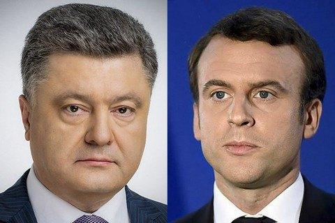 П.Порошенко запросив Е.Макрона вУкраїну