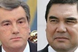 Президенты Украины и Туркменистана поработали строителями