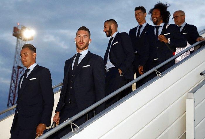 Команда *Реала* по прибытию в аэропорт Борисполя, 24 мая 2018.