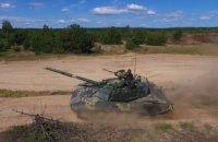 Модернизированный танк Т-72 испытали под водой