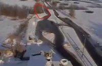 """Опубліковано відео обстрілу """"Градами"""" автобуса біля Волновахи (оновлено)"""
