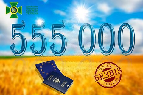 555 тисяч українців скористалися безвізовим режимом з ЄС у перший рік