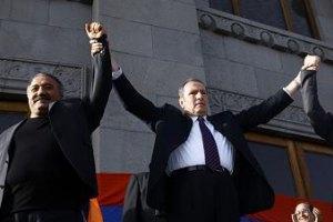 В Армении оппозиция провела многотысячный митинг протеста