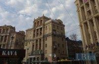 На даху будинку на Майдані Незалежності з'явилася надбудова