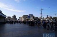 В Киеве из-за сообщения о минировании эвакуировали железнодорожный вокзал