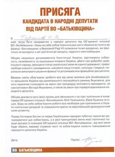 Присяга Александра Турчинова