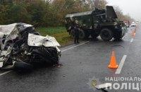 На Львовщине в ДТП с участием легковушки и военного грузовика погибли супруги
