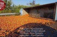 Фура с яблоками перевернулась на трассе Киев-Харьков