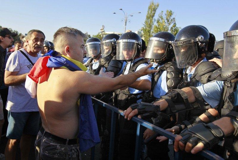 Антиурядові протести в Бухаресті, 11 серпня, 2018.