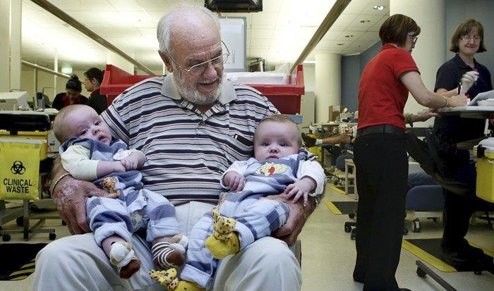 11 мая 81-летний Джеймс Харрисон в последний раз сдал кровь. Он делал это на протяжении 60 лет.