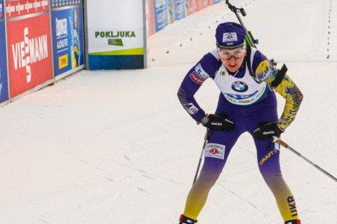 Четыре секунды отделили Пидгрушную от медали на чемпионате мира по биатлону (обновлено)
