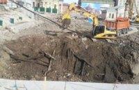 У соцмережах повідомили про руйнування вулиці стародавнього Києва