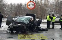 Сотрудник полиции погиб в лобовом ДТП на проспекте Лобановского в Киеве
