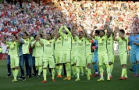 """""""Барса"""" празднует победу: Мадрид - ублюдки, мы - чемпионы"""