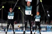 Немцы заняли весь олимпийский пьедестал в лыжном двоеборье
