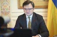 Кулеба обговорив з головою МЗС Латвії військове загострення на Сході України
