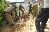 Житомирські рятувальники дістали з криниці коня