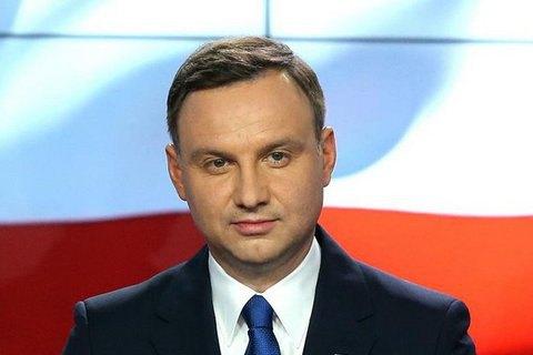 Польша поддерживает санкции против РФ за агрессию в Украине, - Дуда