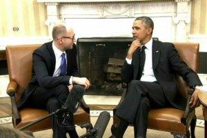 Яценюк доволен пакетом помощи со стороны США и ЕС