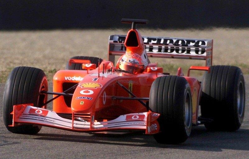 Міхаель Шумахер за кермом Ferrari F2002