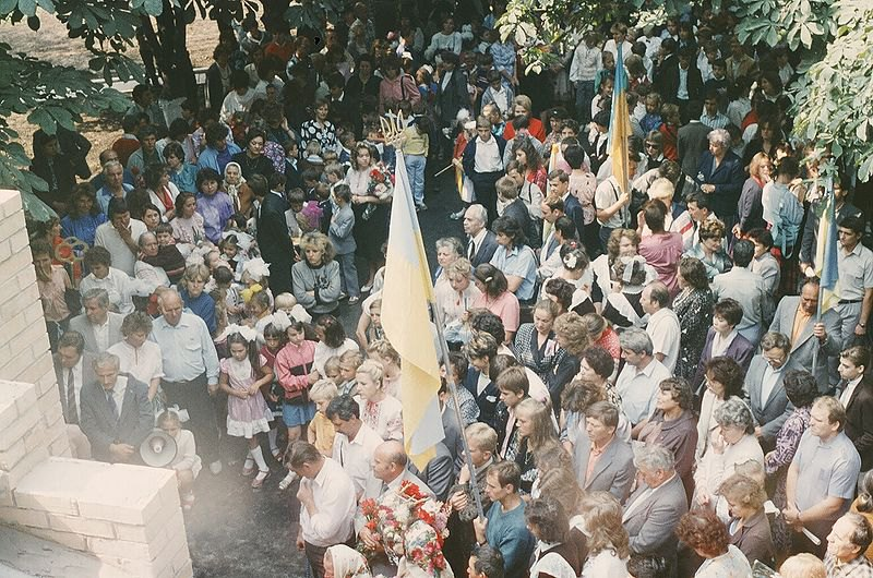 Відкриття першої української школи в Донецьку