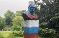 Памятник Шевченко в Копенгагене раскрасили в российский триколор