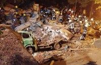 В центре Киева на Тургеневской произошел мощный взрыв неизвестного происхождения