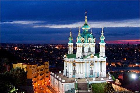 У Києві до Дня незалежності відкриють оглядовий майданчик Андріївської церкви