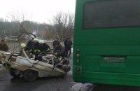 "Три человека погибли в лобовом столкновении ""Запорожца"" и маршрутки в Обухове"
